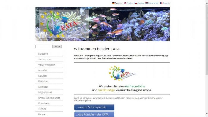 New EATA Homepage